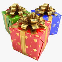 Gift Boxes - Red, Green, Blue